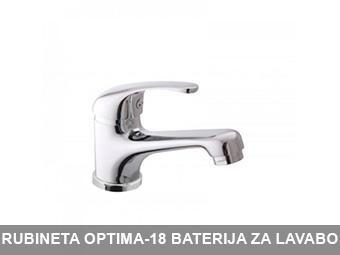 RUBINETA OPTIMA-18 BATERIJA ZA LAVABO