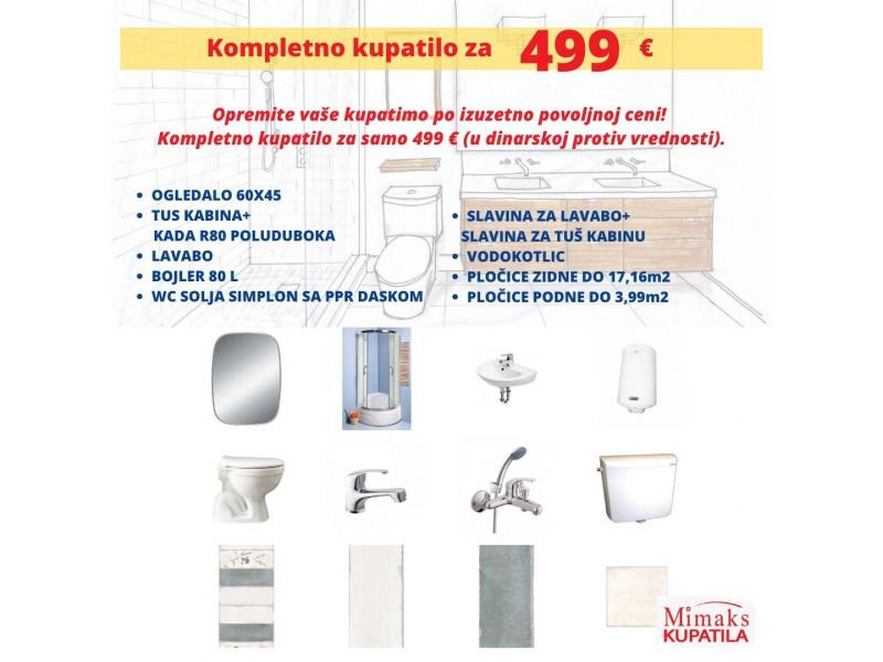 Kupatilo za 499 e- povoljno opremite Vaše kupatilo!