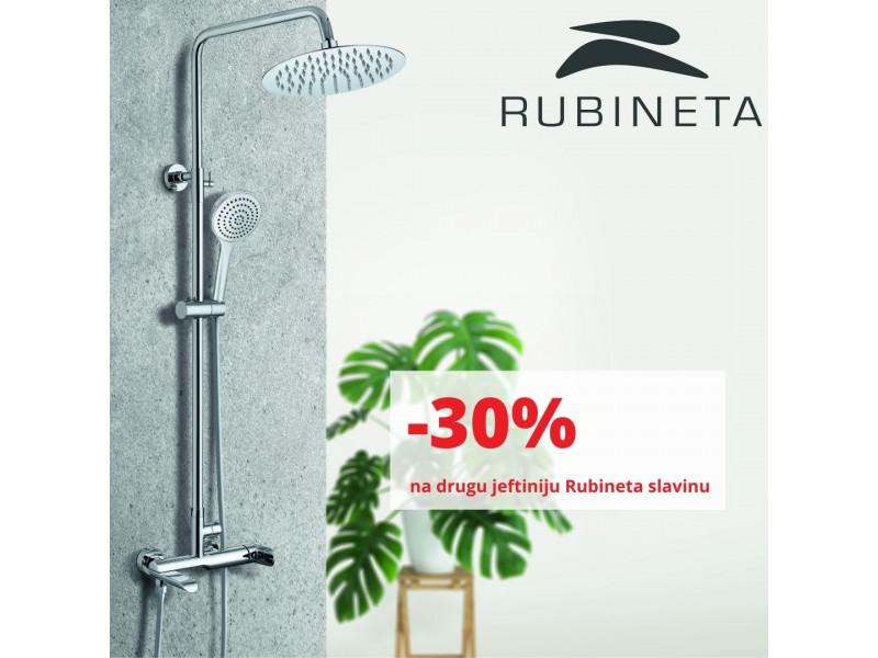 Rubineta slavine: -30% na drugu odabranu jeftiniju Rubineta slavinu!