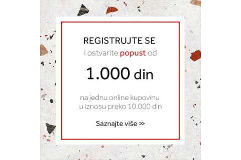 Registruj se u uštedi 1.000 dinara