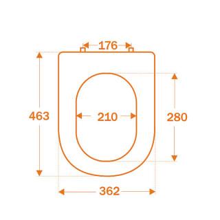 CO Wc daska Gepard Versa C2 - duroplast - dim 45,3 x 36,2 cm - bela - 2,56 kg