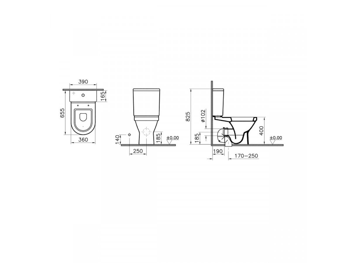 VITRA MONOBLOK S50 SVS50 SIMPLON/BALTIK SA DUROPLAST WC DASKOM