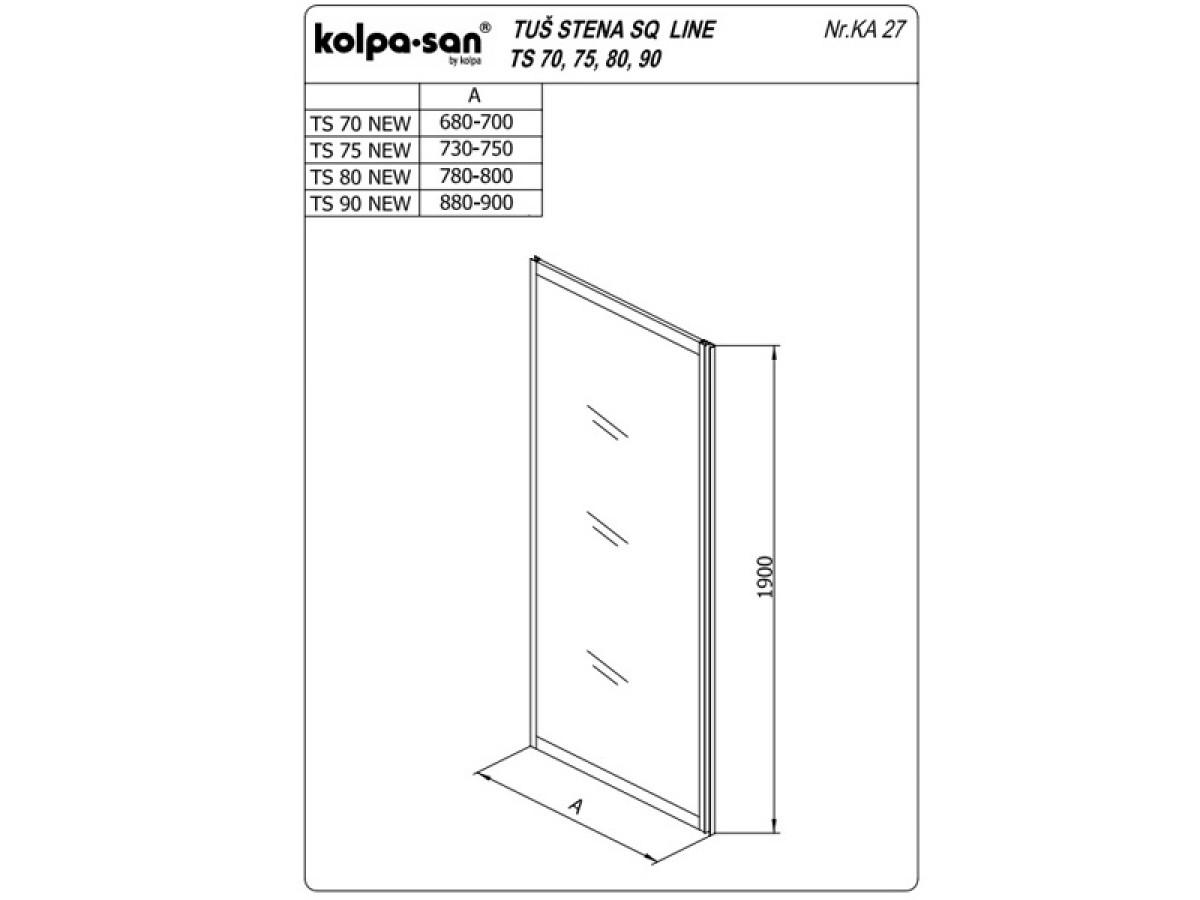 KOLPA TS SQ line 75/CH NEW BELčinč.5/6,mm,bela,,,