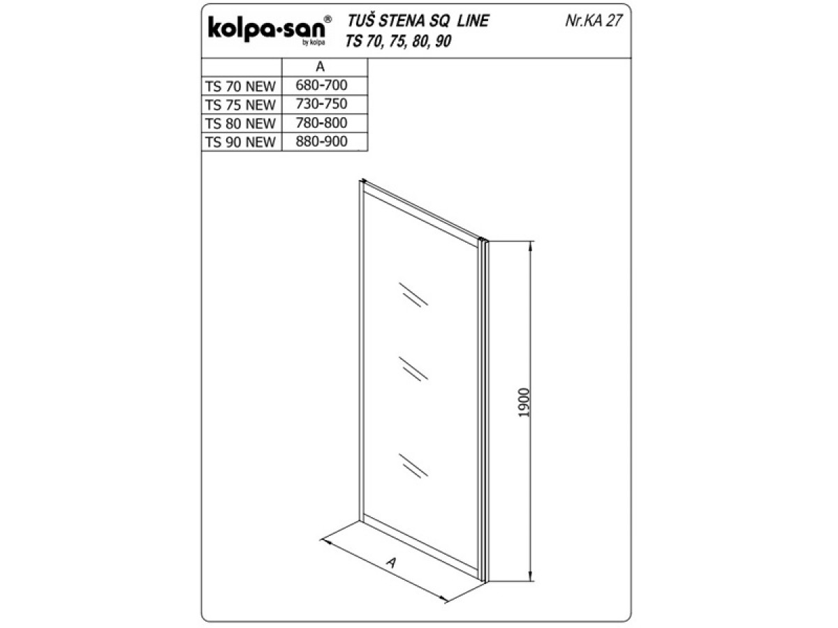 KOLPA TS SQ line 80/K NEW SILVprov.5/6,mm,silver,,,