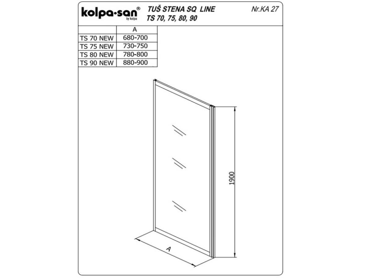 KOLPA TS SQ line 80/CH NEW SILčinč.5/6,mm,silver,,,