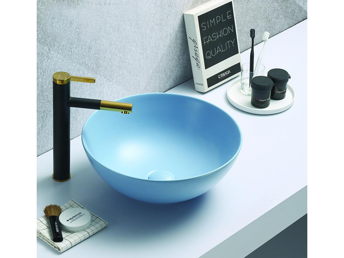 Minotti Nadgradni lavabo Ø415x155, mat plavi 7008PM