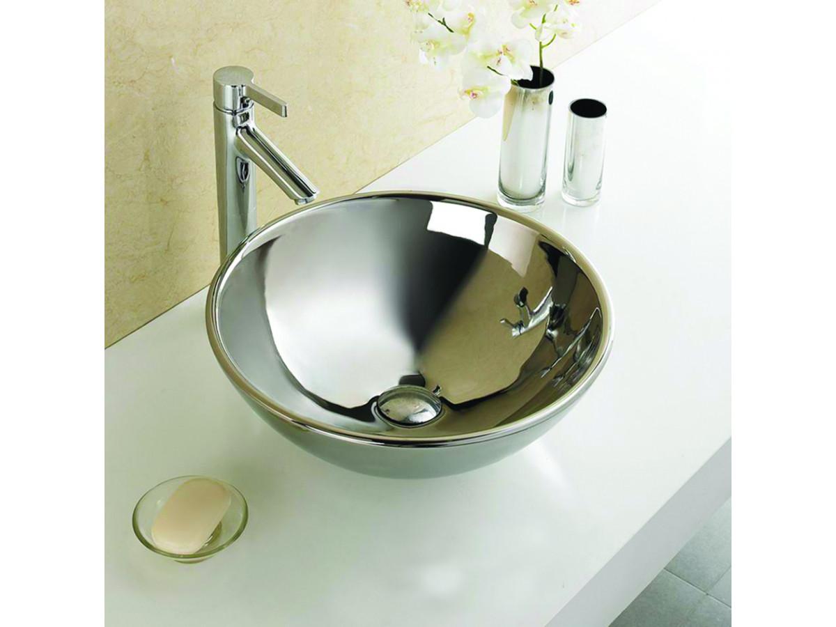Minotti Nadgradni lavabo Ø410x160, silver 7009S