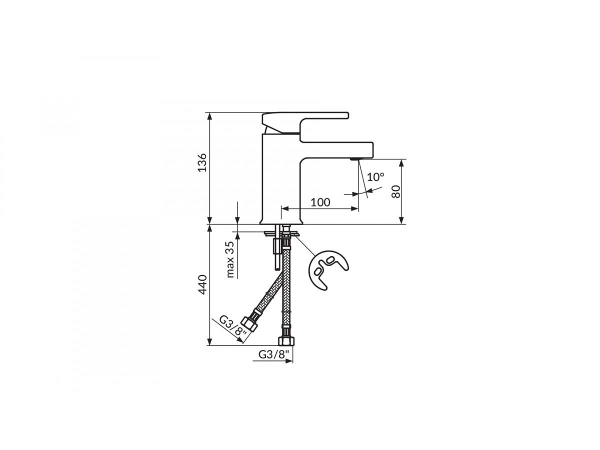 ROSAN B2 Baterija za lavabo JB30101