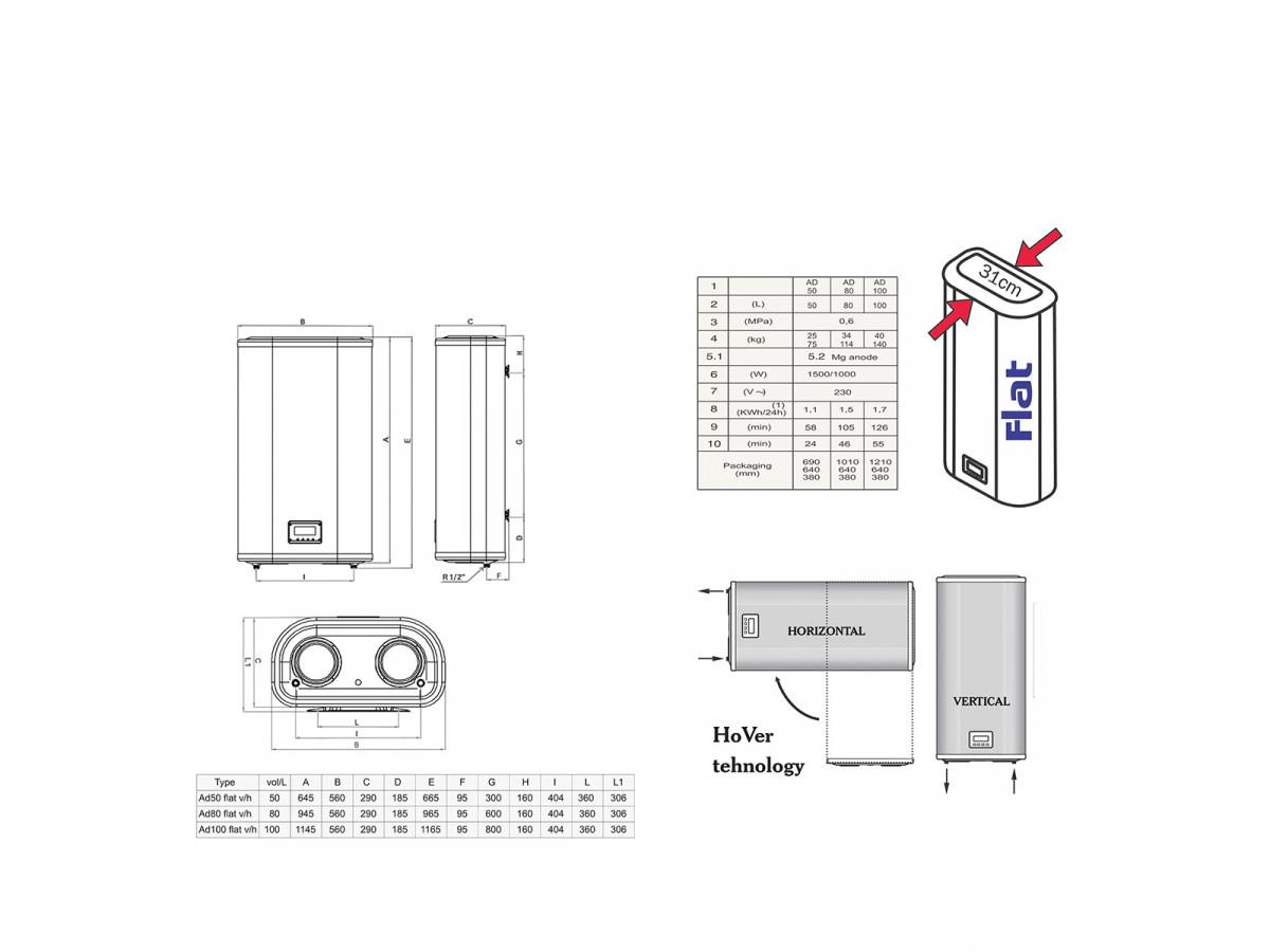 MAGNOHROM BOJLER FLAT 100 L (2X50L)