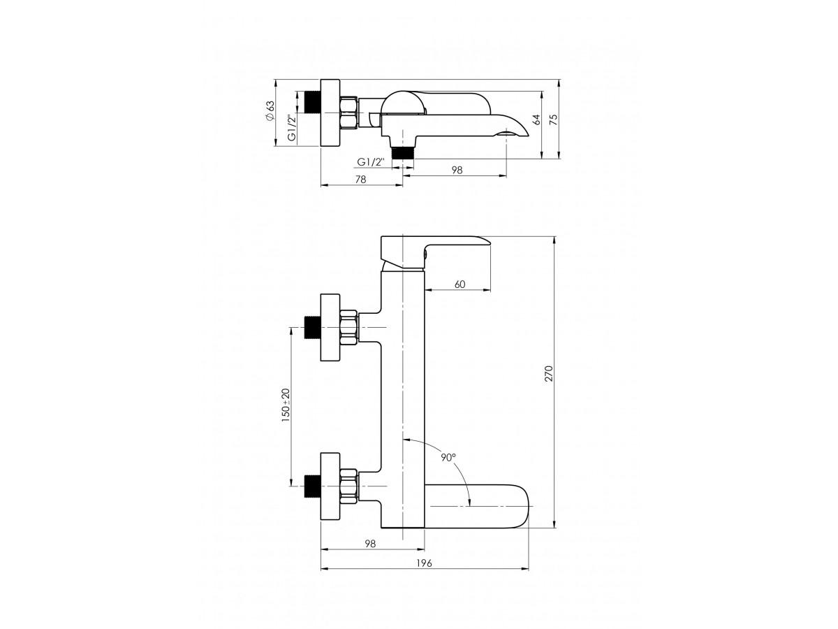 RUBINETA ULTRA-10K KADA (SW) (BK) U1KP68