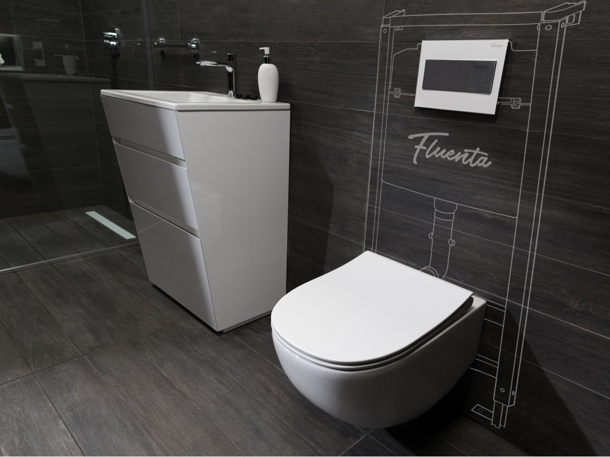 FLUENTA WC SOLJA KONZOLNA RIMLES A SA DASKA SC 40006661
