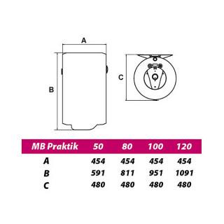 METALAC BOJLER 120L MB PROHROM