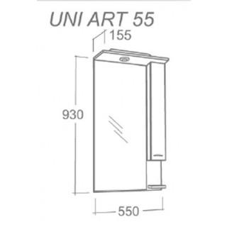 MINOTTI UNI OGLEDALO ART 55