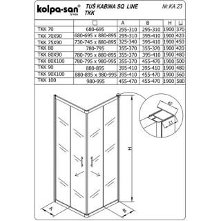 KOLPA SAN KABINA TKK SQ line 80 S/K BELI RAM