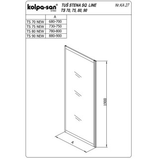 KOLPA TS SQ line 70/CH NEW SILčinč.5/6,mm,silver,,,
