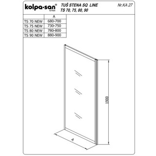 KOLPA TS SQ line 90/CH NEW BELčinč.5/6,mm,bela,,,