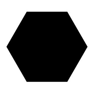 SA HEX. BASIC BLACK 25X22, 1.04m2