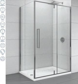 CONCEPT Tuš kabina  ABSOLUT 1200x900x2000 staklo 6mm providno sa pivot vratima C-02-6120/6090