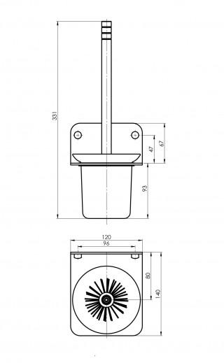 RUBINETA ALTO set galanterije - CRNI (BK) 670119