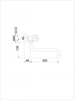 RU R-9 ECO ZIDNI VENTIL R93001