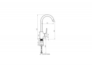 RUBINETA AXE-33 ST 3/8 AX30158