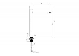 RUBINETA ETNA-18D (BK) (3/8) ETD0168