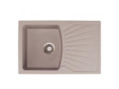 Kvarcna sudopera X Granit  Quadro PLUS 770x500 fi 90 sa sifonom BEIGE  137412