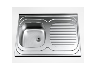 Jednodelna inox sudopera-leva fi 60  122683