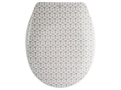 COTEXSA WC DASKA MOZAIK DUROPLAST-INOX/PVC OKOV-SOFT CLOSE 141749